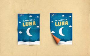 CARTEL – AL LADO DE LA LUNA Diseño del Cartel de AL LADO DE LA LUNA de la compañía bricAbrac Teatro, Sevilla (España). #gráfico / #Cartel / #artwork / #berth99 / #bricAbracTeatro / #ALLADODELALUNA