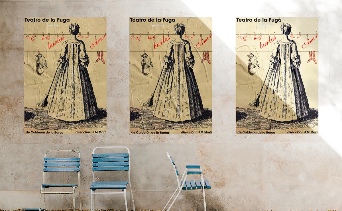 CARTEL – NO HAY BURLAS CON EL AMOR  Diseño del Cartel de la obra de Teatro NO HAY BURLAS CON EL AMOR de la compañía TEATRO DE LA FUGA de Sevilla (España). #gráfico / #cartel / #artwork / #berth99 / #Cartel / #TEATRODELAFUGA / #NOHAYBURLASCONELAMOR
