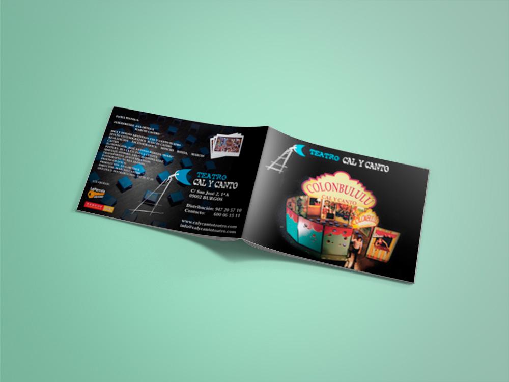 DOSSIER – COLONBULULÚ Diseño del artwork para el DOSSIER de la obra de Teatro COLONBULULÚ de la compañía Cal Y Canto Teatro de Burgos (España). Enero 2008 #gráfico / #dossier / #artwork / #berth99 / #CALYCANTOTEATRO