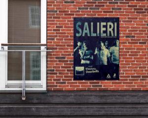 CARTEL - SALIERI Diseño del Cartel del grupo pop rock SALIERI de la gira de su primer PL ELECTRIC DOORBELLS, Sevilla (España). #gráfico / #Cartel / #artwork / #berth99 / #pop / #SALIERI / #rock / #ElectricDoorbells / #LP